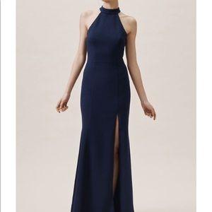 Navy BHLDN gown